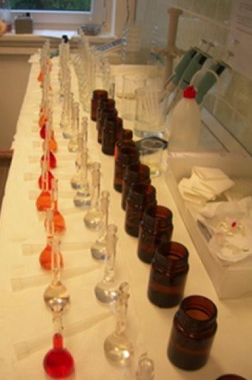 Laboratóriumi nZVI tesztkísérlet